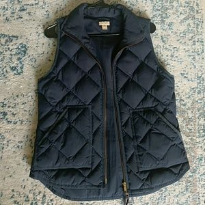 J Crew navy bubble vest (S)
